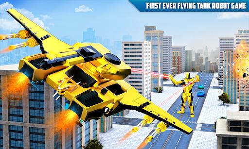 Flying Tank Transform Robot War: Lion Robot Games 10.3.0 Screenshots 5