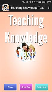 Teaching Knowledge Test
