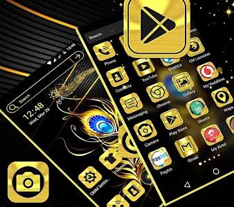 Gold Black Launcher Theme 4.1
