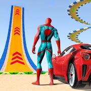 Superhero Hot Car Racing Stunt: Mega Ramp Top Game