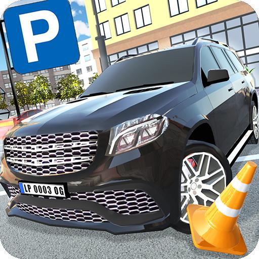 Luxury SUV Car Parking Icon
