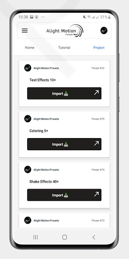 Alight Motion Presets 1.9 Screenshots 8