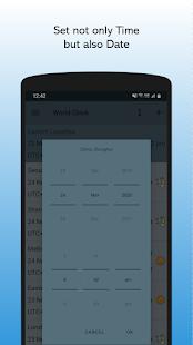 World Clock - TimeZone Converter Widget