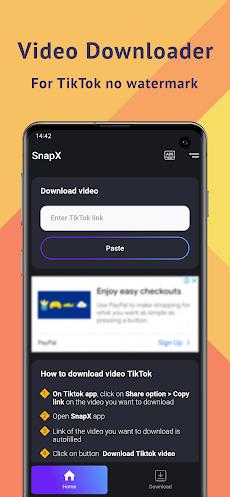 SnapX - Video Downloader for TikTok No Watermarkのおすすめ画像1