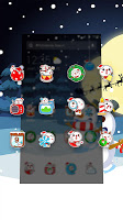 Merry Christmas Cute Snowman-APUS Launcher theme