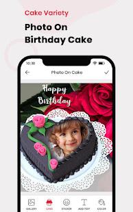 Name Photo On Birthday Cake - Birthday Photo Frame