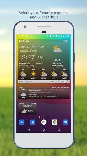 Weather & Clock Widget for Android screenshots 2