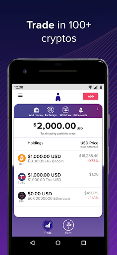 Abra Bitcoin Crypto Wallet Buy Trade Earn Interest 92.0 Screenshots 2