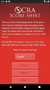Scra Score Sheet