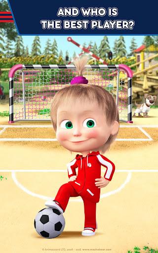 Masha and the Bear: Football Games for kids Apkfinish screenshots 9