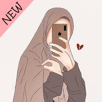 Hijab Cartoon Muslimah Wallpapers HD