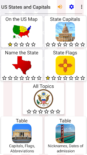 50 US States Map, Capitals & Flags - American Quiz 3.3.0 screenshots 2