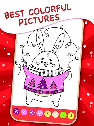 Christmas Coloring Book By Numbers 2.4 screenshots 7