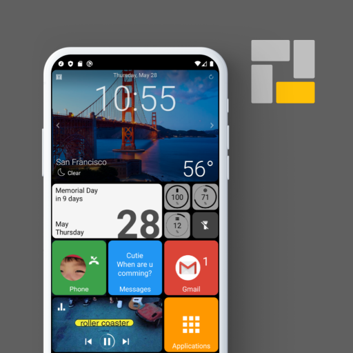 Square Home - Launcher : Windows style Android