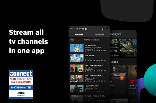 Zattoo - TV Streaming App apktram screenshots 1