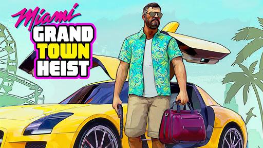 Télécharger gratuit Real Miami Gangster Grand City: Crime Simulator APK MOD 1