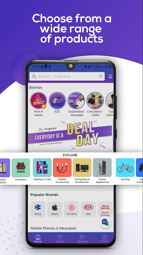 Jinglebid - Online Shopping App screenshots 1