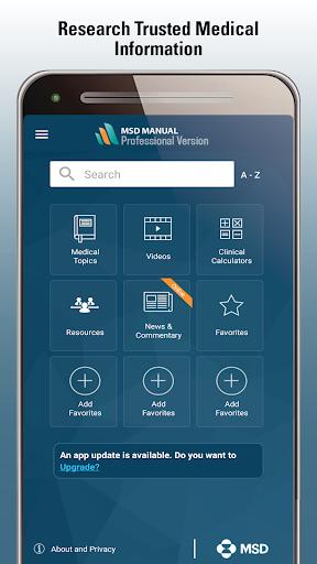 MSD Manual Professional  Screenshots 1