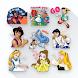 Sticker WA Cartoon Princess Love WAStickerApps - Androidアプリ