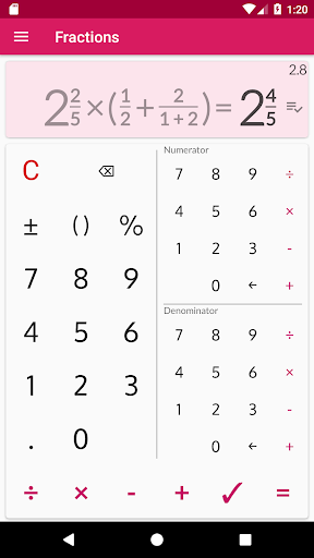 Fractions - calculate and compare 2.18 Screenshots 3