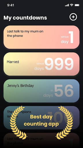 Day Count - countdown app & birthday reminder 1.6.0 screenshots 3