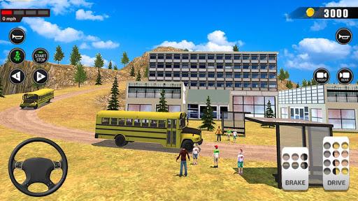 Offroad School Bus Driving: Flying Bus Games 2020 apkslow screenshots 8