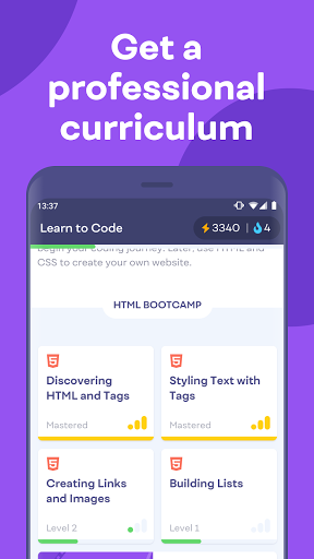 Mimo: Learn coding in HTML, JavaScript, Python android2mod screenshots 5