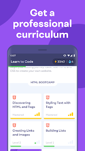 Mimo App: Learn coding in JavaScript, Python and HTML 5