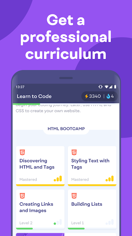 Mimo: Learn coding in HTML, JavaScript, Python poster 5