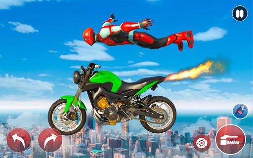 New Crazy Rope Spider Girl Bike Stunts Master 2021 screenshots 5