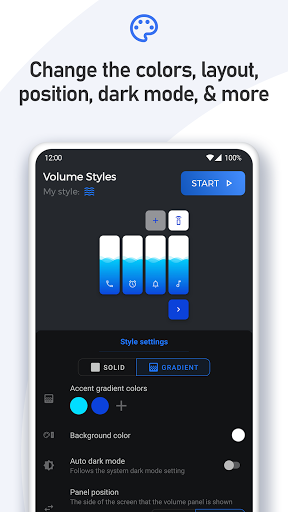 Volume Styles - Customize your Volume Panel Slider 4.1.3 Screenshots 5