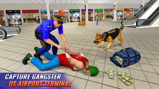 Police Dog Airport Crime Chase : Dog Games 3.8 Screenshots 6