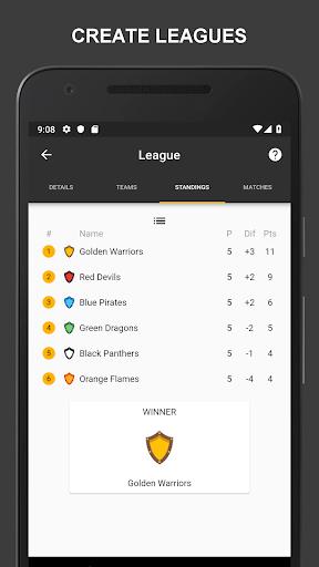 Winner - Tournament Maker App, League Manager 9.9.2 Screenshots 16
