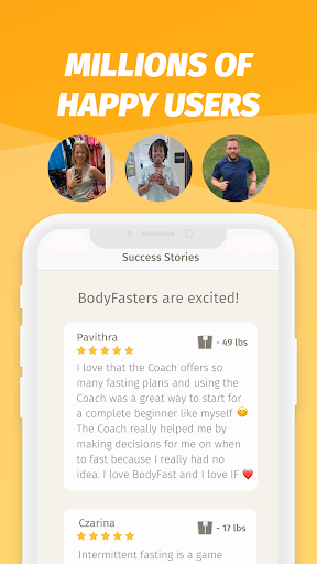 BodyFast Intermittent Fasting Tracker - Diet Coach 3.4.21 Screenshots 8