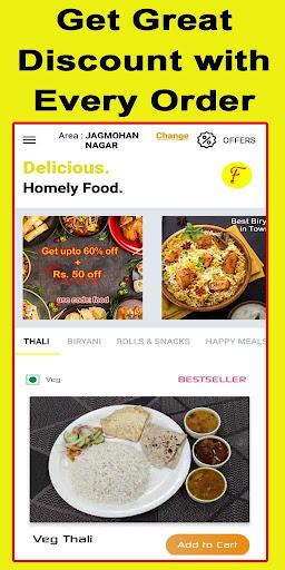food2u - food ordering app screenshot 2