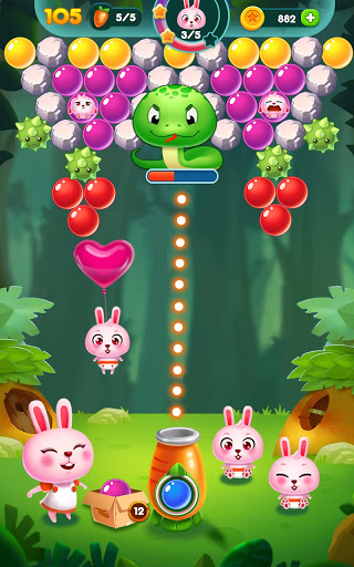 Bubble Bunny: Animal Forest Shooter apkpoly screenshots 22