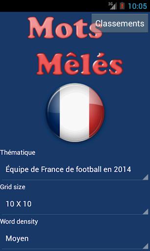 Mots Mêlés en Français screenshots 1