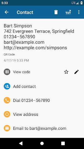 QRbot: QR & barcode reader android2mod screenshots 2