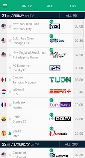 Soccer Live on TV - Telefootball Screenshot