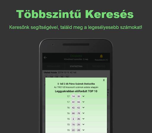 Lottu00f3 Tru00e9ner: Magyar Szerencseju00e1tu00e9k Statisztika screenshots 2