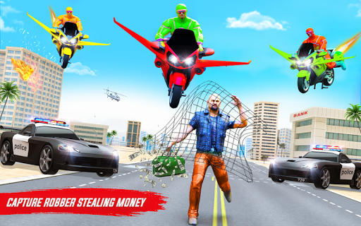 Superhero Flying Bike Taxi Driving Simulator Games 11 Screenshots 13