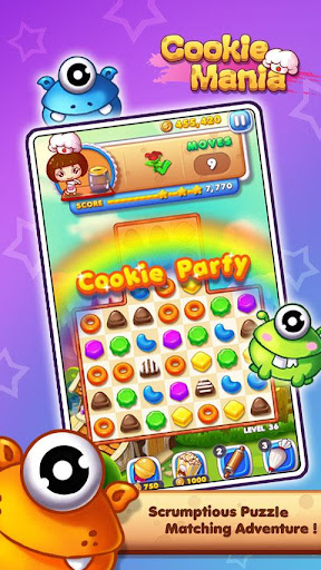 Cookie Mania - Match-3 Sweet Game apklade screenshots 1