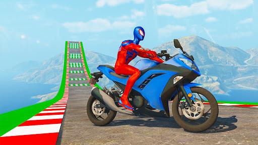 Superhero Bike Stunt GT Racing - Mega Ramp Games 1.21 screenshots 2