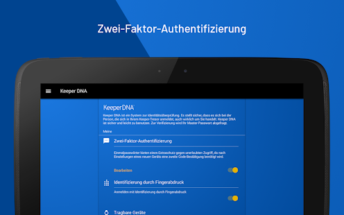 Keeper Passwortmanager und sicherer Tresor Screenshot