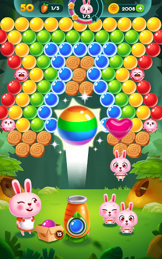 Bubble Bunny: Animal Forest Shooter apkpoly screenshots 19