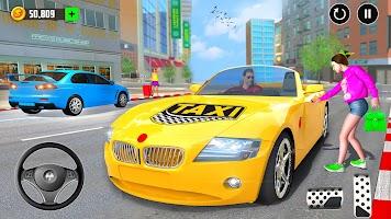 Taxi Sim Car Driving Games