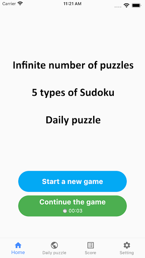 All Sudoku - 5 kinds of sudoku puzzle in one app 1.10.21 screenshots 1
