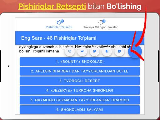 Pishiriqlar Retsepti Uzbek Tilida_TOP PiSHiRiQLaR 2.4.4 Screenshots 5