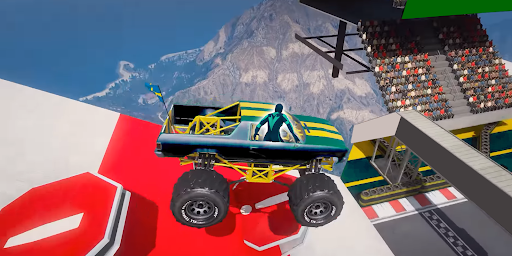 Superhero Mega Ramp Car Stunt - Monster Truck Race  screenshots 3