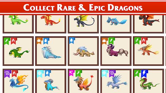 Dragon Paradise City: Breeding War Game Mod Apk 1.3.50 (Unlimited Gold/Gems/Food) 6